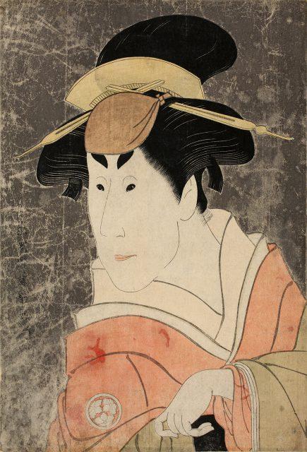 東洲斎写楽《 二代目小佐川常世の一平姉おさん》 大判錦絵 寛政6年(1794)