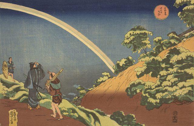歌川国芳《 東都名所 するがだひ》 大判錦絵 天保3-4年(1832 -33)頃